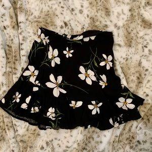 Kimichi Blue Black Floral Dress-Size XS